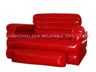 China Sofá dobrado do sofá da mobília do Pvc encerado home Inflatables do vermelho para a sala de visitas fábrica