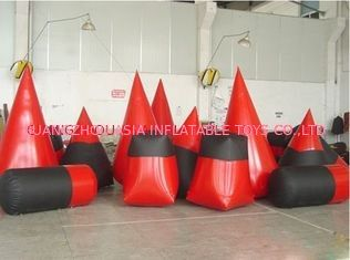China O depósito inflável do Paintball de encerado do PVC do vermelho 0.6mm para o paintball ostenta fábrica