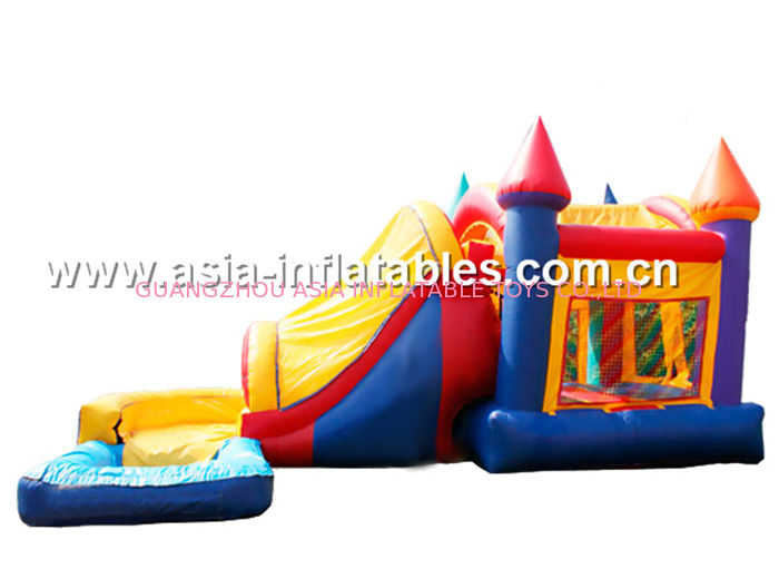 0.55mm PVC tarpaulin inflatable bouncer combo/inflatable bouncer with slide/commercial inflatable combo