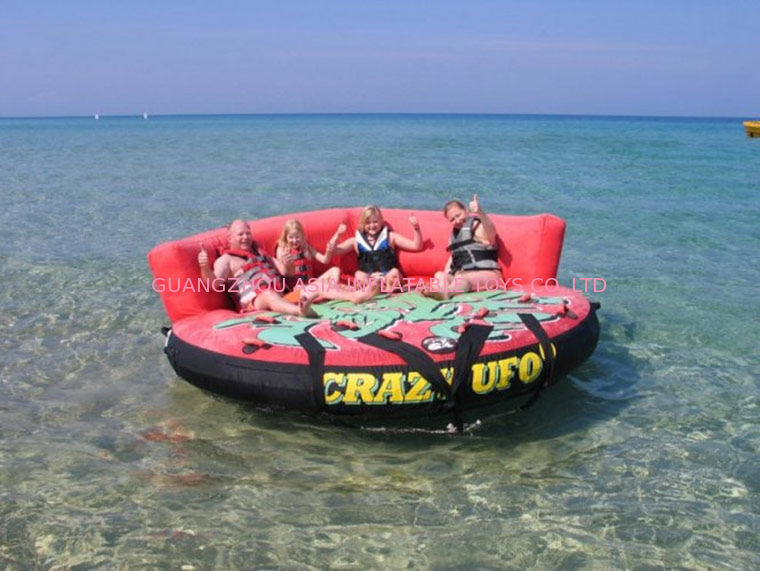 Crazy Ufo Towable Inflatables / Adults And Child Inflatable Water Sport Games